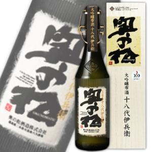 奥の松酒造 大吟醸 雫酒 十八代伊兵衛 720ml 化粧箱付き|tsutsu-uraura