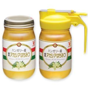 サクラ印 ハンガリー産 純粋アカシアはちみつ ピッチャー入り 本体 300g + 付替用 300g|tsutsu-uraura