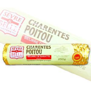 グラスフェッドバター セーブル 自然発酵 無塩 250g 【フランス ポワトゥーシャラン産 AOP取得 無添加】|tsutsu-uraura