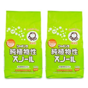 シャボン玉石けん 純植物性スノール粉石鹸 2.1kg × 2個