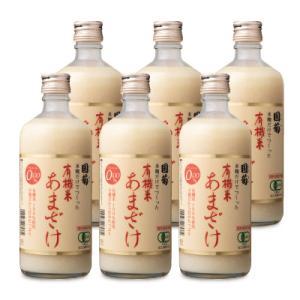 有機JAS 篠崎 国菊 有機米 あまざけ 500ml × 6本 甘酒 ノンアルコール tsutsu-uraura