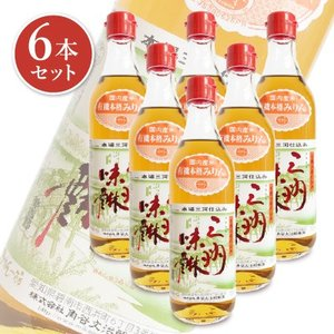 有機三州味醂 500ml × 6本 角谷文治郎商店 tsutsu-uraura