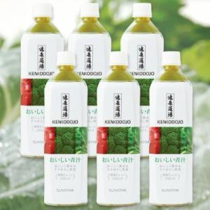 サンスター 健康道場 おいしい青汁 900g × 6本セット ペットボトル|tsutsu-uraura