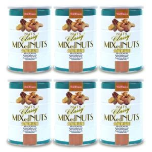 東洋ナッツ食品 トンTON'S  食塩無添加 クラッシー ミックスナッツ缶 360g × 6個 tsutsu-uraura