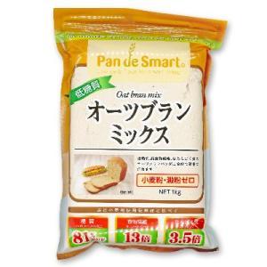 鳥越製粉 低糖質オーツブランミックス 1kg (1000g)【パンミックス粉 ふすまパン 糖質オフ ローカーボ ロカボ クッキング粉 製菓材料 ダイエット中にも】|tsutsu-uraura