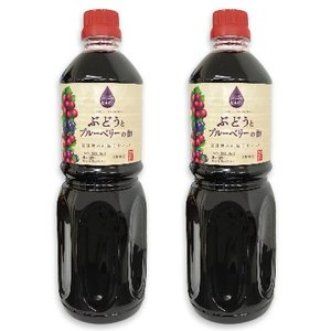 内堀醸造 フルーツビネガー ぶどうとブルーベリーの酢 1L  1000ml × 2本