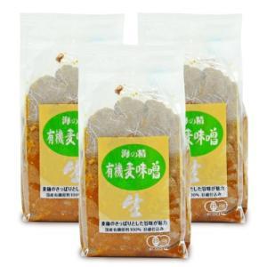 有機JAS 海の精 国産有機・麦味噌1kg × 3個|tsutsu-uraura