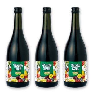 【期間限定50%off】 ベジーデル酵素液 720ml 3本セット [ビューティープランニング]【酵素 ドリンク ダイエット ファスティング飲料】|tsutsu-uraura
