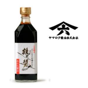 鶴醤 500ml ヤマロク醤油 【つるびしお】【再仕込み醤油】【圧搾 本醸造 しょうゆ 天然醸造】|tsutsu-uraura