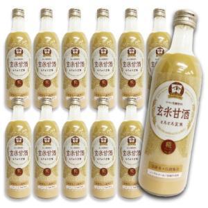 YAMATO 玄米甘酒 490ml × 12本セット ヤマト醤油味噌|tsutsu-uraura