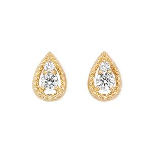 K18イエローゴールドダイヤモンドピアス