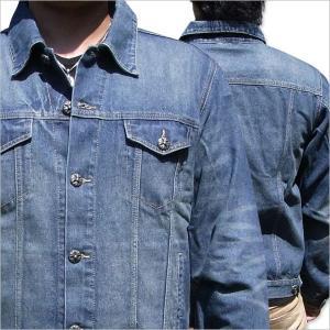 Gジャン メンズ 大きいサイズ ジージャン デニムジャケット[GJ1411]|tsutsumiya