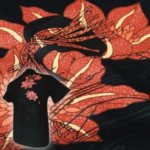 和柄 Tシャツ 半袖 メンズ 花魁 大きいサイズ|tsutsumiya
