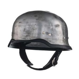 公道使用不可 チョッパー ヘルメット ジャーマン アルミ ラスティー S/M,L/XL TT&CO.|ttandco