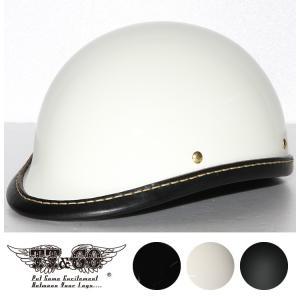 公道使用不可 ジョッキー レザーリムショット ハンドソウン ブラックレザー ハーフヘルメット S M/L XL/XXL TT&CO.|ttandco