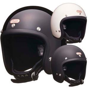 スーパーマグナム ダブルストラップ仕様 ブラックレザー スモールジェットヘルメット SG/DOT規格品 ttandco