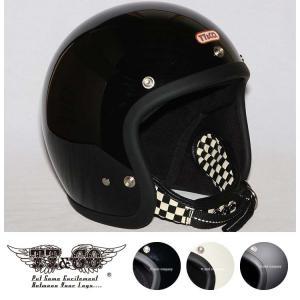 スーパーマグナム ダブルストラップ仕様 ブラックチェッカー スモールジェットヘルメット SG/DOT規格品|ttandco