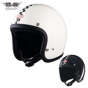 スーパーマグナム センターチェッカー スモールジェットヘルメット SG/DOT規格品|ttandco