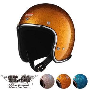 スーパーマグナム ギンギラセブンティーズ クローム トリム スモールジェットヘルメット SG/DOT規格品 ttandco
