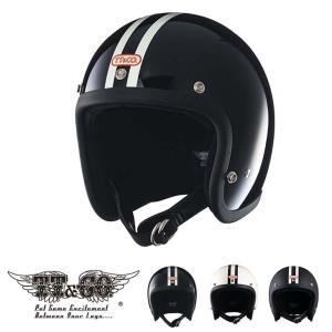 スーパーマグナム 2ラインズ スモールジェットヘルメット SG/DOT規格品|ttandco