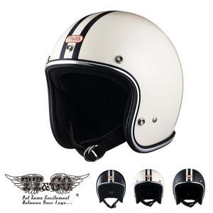 スーパーマグナム 2ラインズ クロームトリム スモールジェットヘルメット SG/DOT規格品|ttandco