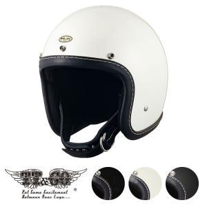スーパーマグナム レザーリムショット ヴィンテージ ネイビーブルーレザー スモールジェットヘルメット SG/DOT規格|ttandco
