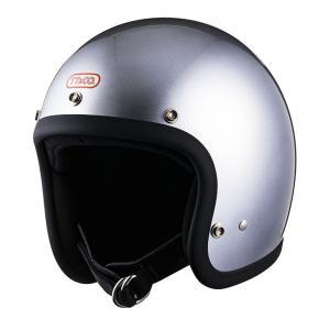 スーパーマグナム スタンダード シルバーメタリック スモールジェットヘルメット SG/DOT規格品 ttandco