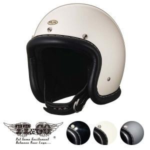 スーパーマグナム ヴィンテージレザートリム ブラックレザー スモールジェットヘルメット SG/DOT規格 ttandco