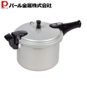 パール金属 ホットクッキング アルミIH対応圧力鍋6.0L(1升炊)(HB-378)