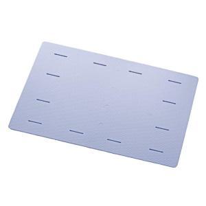 風呂マット 85 120 85×120cm用 ソフトタイプ EVA樹脂製 ブルー ダブルサイズラバー...