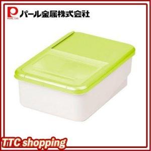パール金属 プリペア システムキッチン用米びつ5kg用(グリーン)(H-5820)