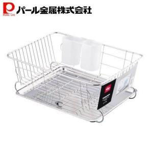 パール金属 アルファージュ ステンレス製水切りバスケット(ステンレストレースライド式)(H-9544)|ttc