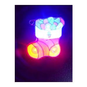 LEDバッジ-サンタさんのギフト(クリップ式)|ttfs