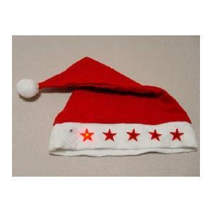 クリスマスパーティ用 光るサンター帽子|ttfs