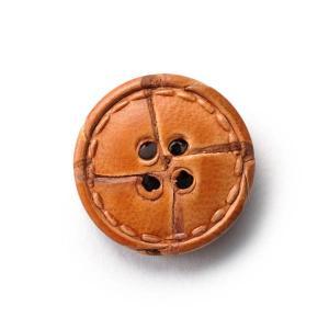 本革ボタンLZ1500 15mm  color.01ライトブラウン  袖用ボタン レザーボタン,皮ボタン老舗テーラー御用達スーツボタン専門店|ttp