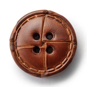 本革ボタンLZ1500 25mm  color.03ブラウン  コート対応ボタン老舗テーラー御用達スーツボタン専門店の高級ボタン|ttp