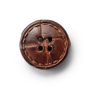 本革ボタンLZ1500 15mm  color.03ブラウン  袖用ボタン レザーボタン,皮ボタン老舗テーラー御用達スーツボタン専門店|ttp