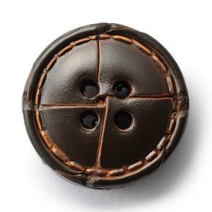 本革ボタンLZ1500 25mm  color.04ダークブラウン  コート対応ボタン老舗テーラー御用達スーツボタン専門店の高級ボタン|ttp