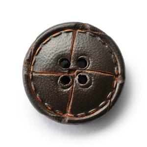 本革ボタンLZ1500 20mm  color.04ダークブラウン  コート対応ボタン レザーボタン,皮ボタン老舗テーラー御用達スーツボタン専門店|ttp
