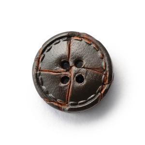 本革ボタンLZ1500 15mm  color.04ダークブラウン  袖用ボタン レザーボタン,皮ボタン老舗テーラー御用達スーツボタン専門店|ttp