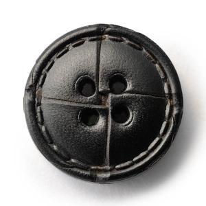 本革ボタンLZ1500 25mm  color.05ブラック  コート対応ボタン レザーボタン,皮ボタン老舗テーラー御用達スーツボタン専門店|ttp