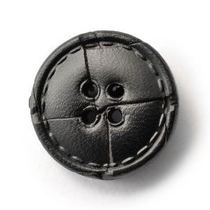 本革ボタンLZ1500 20mm  color.05ブラック  コート対応ボタン レザーボタン,皮ボタン老舗テーラー御用達スーツボタン専門店の高級ボタン|ttp