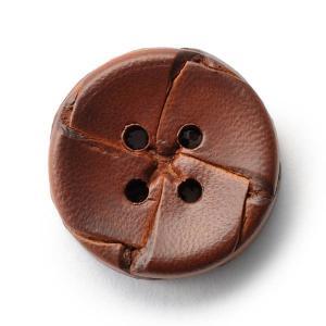 本革ボタンLZ-2200 20mm (color.03ブラウン) コート対応ボタン老舗テーラー御用達スーツボタン専門店の高級ボタン|ttp