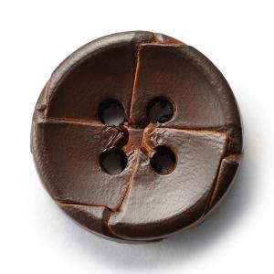 本革ボタンLZ-2200 25mm (color.04ダークブラウン) コート対応ボタン老舗テーラー御用達スーツボタン専門店の高級ボタン|ttp