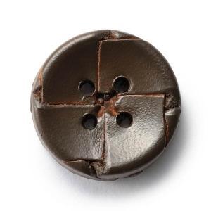 本革ボタンLZ-2200 20mm (color.04ダークブラウン) コート対応ボタン老舗テーラー御用達スーツボタン専門店の高級ボタン|ttp