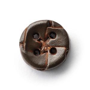 本革ボタンLZ-2200 15mm (color.04ダークブラウン) 袖用ボタン老舗テーラー御用達スーツボタン専門店の高級ボタン|ttp