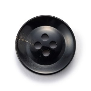 水牛ボタンK-250(COLOR.5)黒20mm 老舗テーラー御用達スーツボタン専門店の高級ボタン ttp