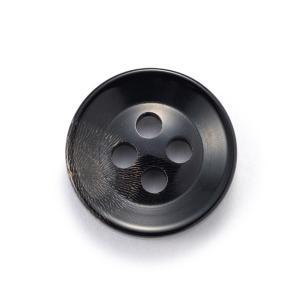 水牛ボタンK-250(COLOR.5)黒15mm紳士服スーツジャケットの袖口・袖ボタンに 老舗テーラー御用達スーツボタン専門店の高級ボタン ttp