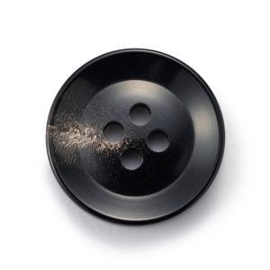 水牛ボタンK-250(COLOR.8)黒,白い斑点,筋20mm 老舗テーラー御用達スーツボタン専門店の高級ボタン ttp