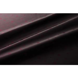 【メール便送料無料】9302(カラー60ダークワインレッド)水玉柄高級ジャガード裏地(高密度,キュプラ100%,ふじやま織)【宅配便480円】|ttp